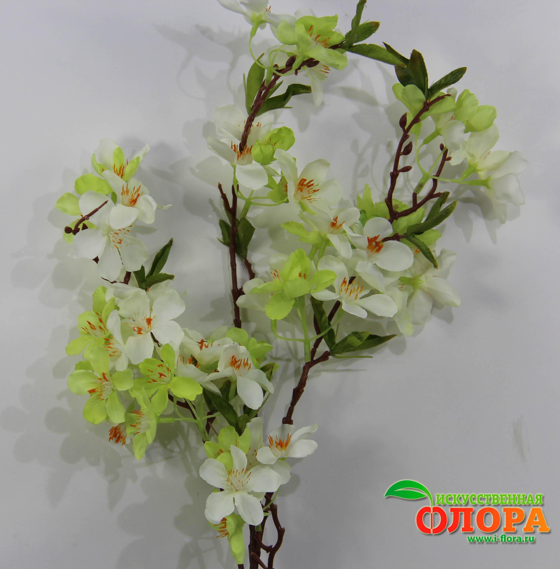 Как сделать ветку сакуры с цветами из гофрированной бумаги 70